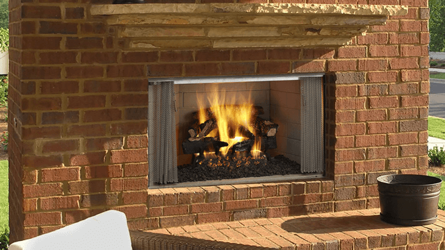Heat N Glo Villawood Wood Fireplace™ 42 Clean Face